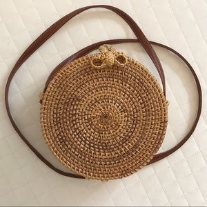 Handbags - Bali Rattan Bag, Round Rattan Bag, Crossbody